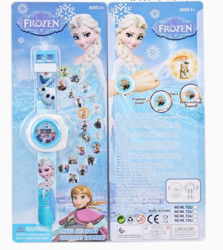 Đồng hồ chiếu 20 hình Frozen đáng yêu bán chạy