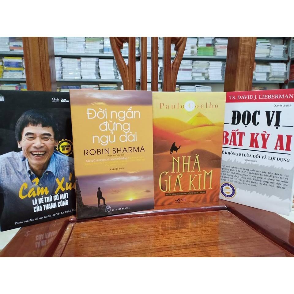 Mua Combo 4 cuốn sách hay: Cảm xúc là kẻ thù, Đời ngắn đừng ngủ dài, Nhà giả kim, Đọc vị bất kỳ ai