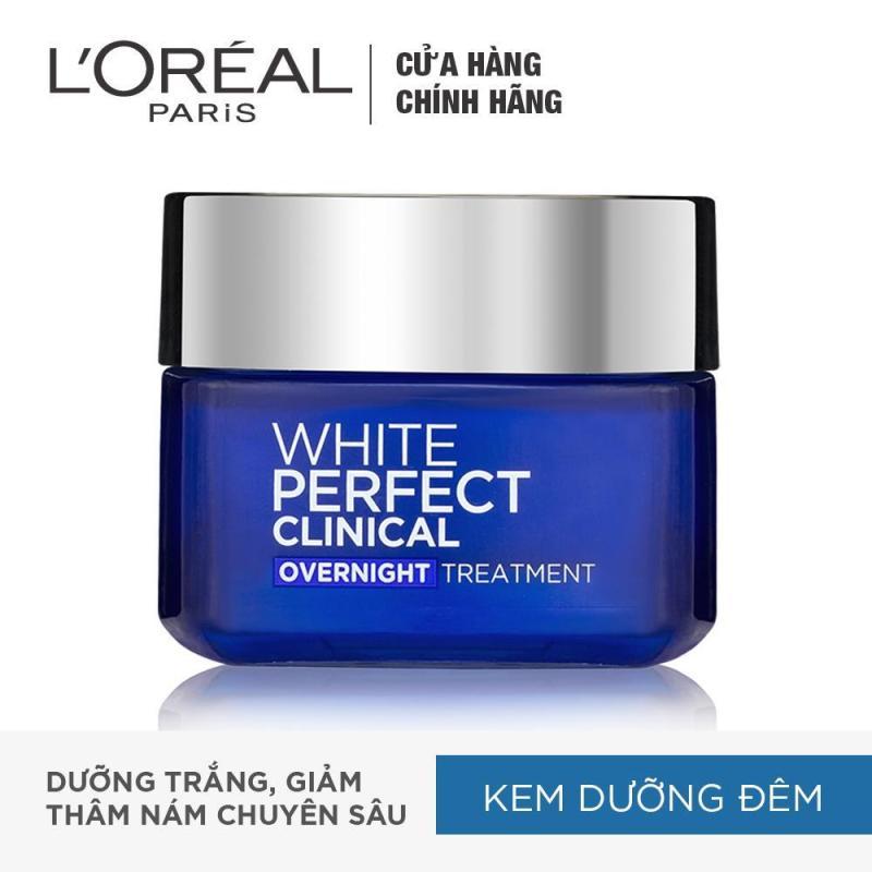 Kem dưỡng trắng mịn và giảm thâm nám ban đêm LOreal Paris White Perfect Clinical Night Cream 50ml nhập khẩu