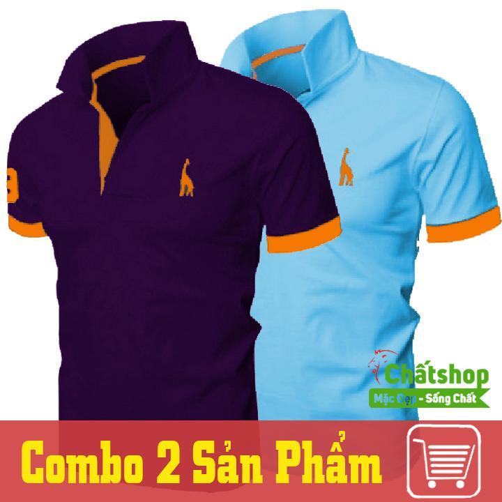 Bán Combo 2 Ao Thun Polo Hươu Tim Xanh Ngọc Rẻ Hồ Chí Minh