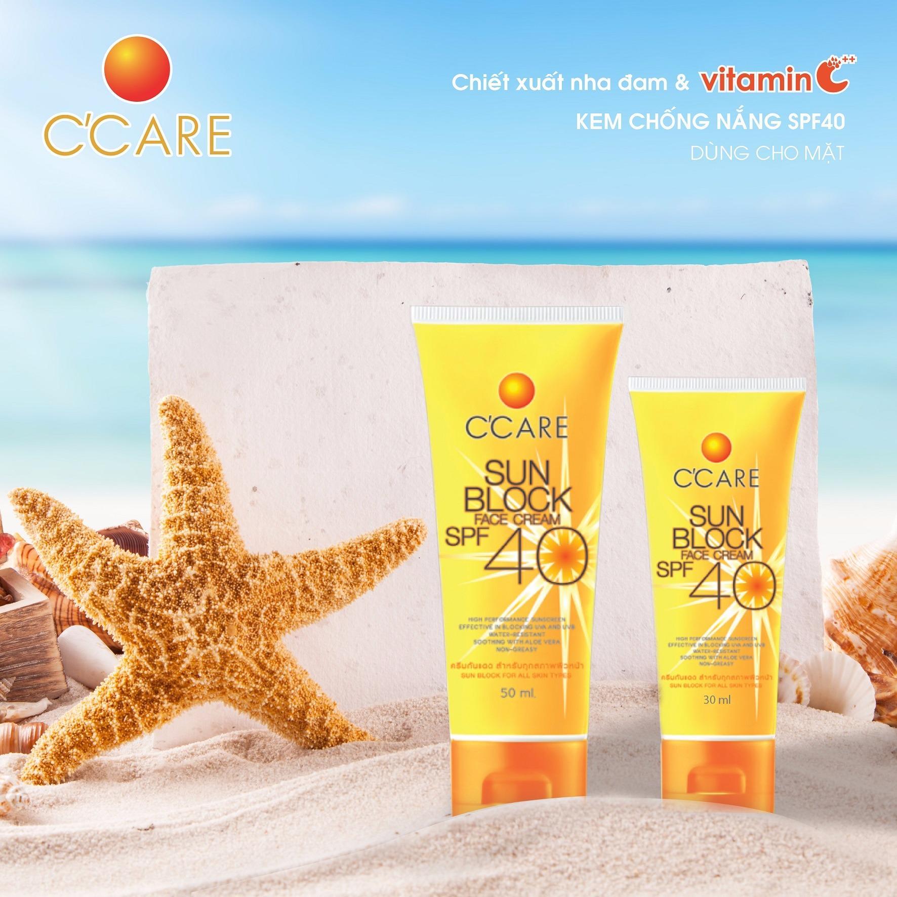 CCare Kem chống nắng SPF 40 30ml - Dùng cho mặt
