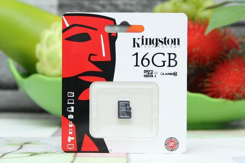 Thẻ 16g Kingston class10 tốc độ 80mb/s tem Vĩnh Xuân và FPT bảo hành 5 năm
