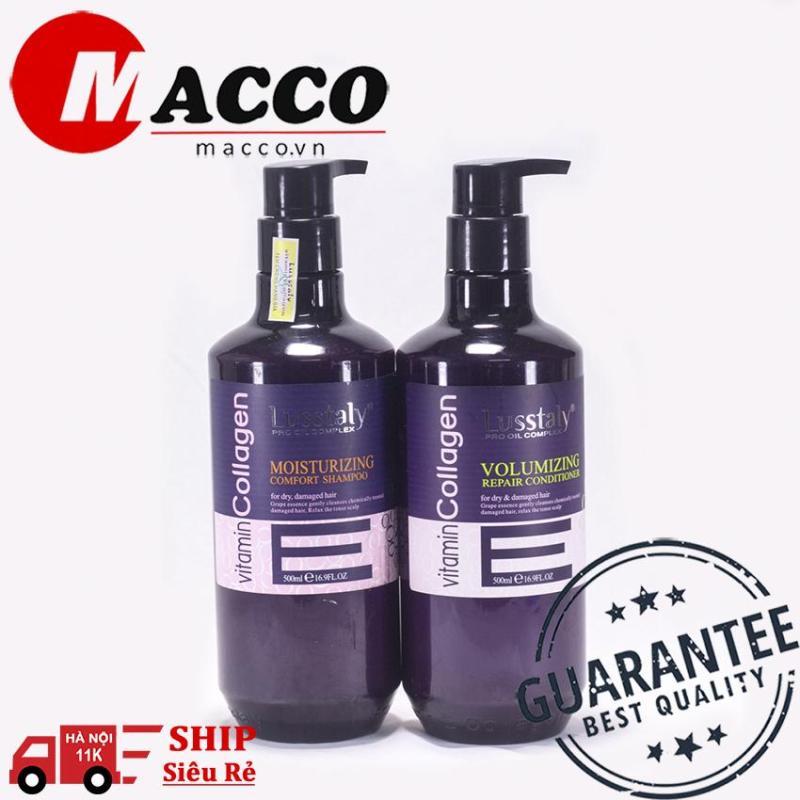 Cặp dầu gội xả  Vitamin E 500ml – siêu mượt chống rụng tóc 99,9% giá rẻ