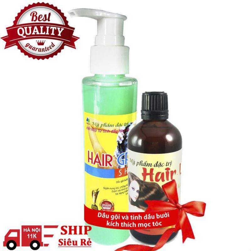 Dầu gội và tinh dầu bưởi kích thích mọc tóc - Kích thích tóc mọc dài thêm 3 - 5 cm giá rẻ