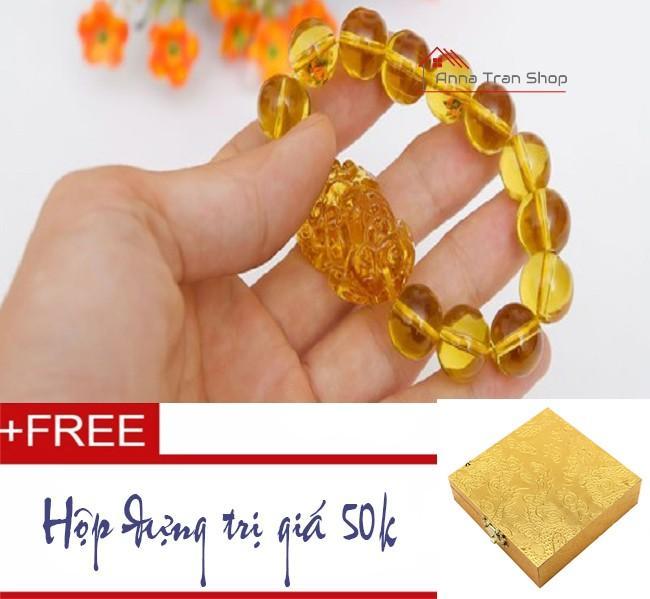 Vòng tay đá Thạch Anh vàng thiên nhiên