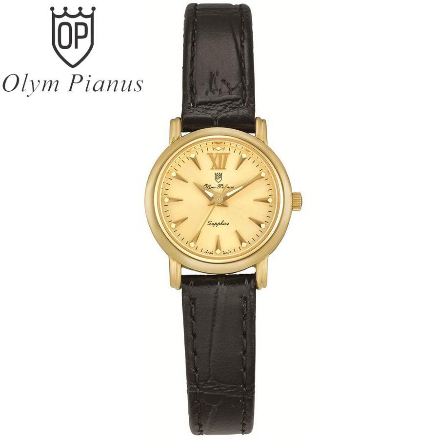 Nơi bán Đồng hồ nữ mặt kính sapphire Olym Pianus OP130-07LK-GL vàng