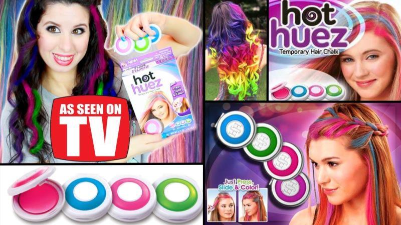 phấn nhuộm tóc 4 màu thời trang hot huez cao cấp