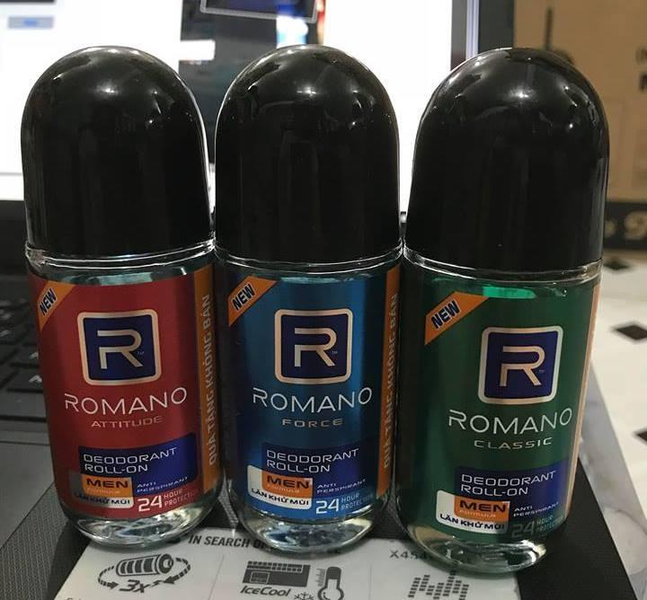 Lăn khử mùi ROMANO chai lớn 40ml - Hàng khuyến mãi Romano