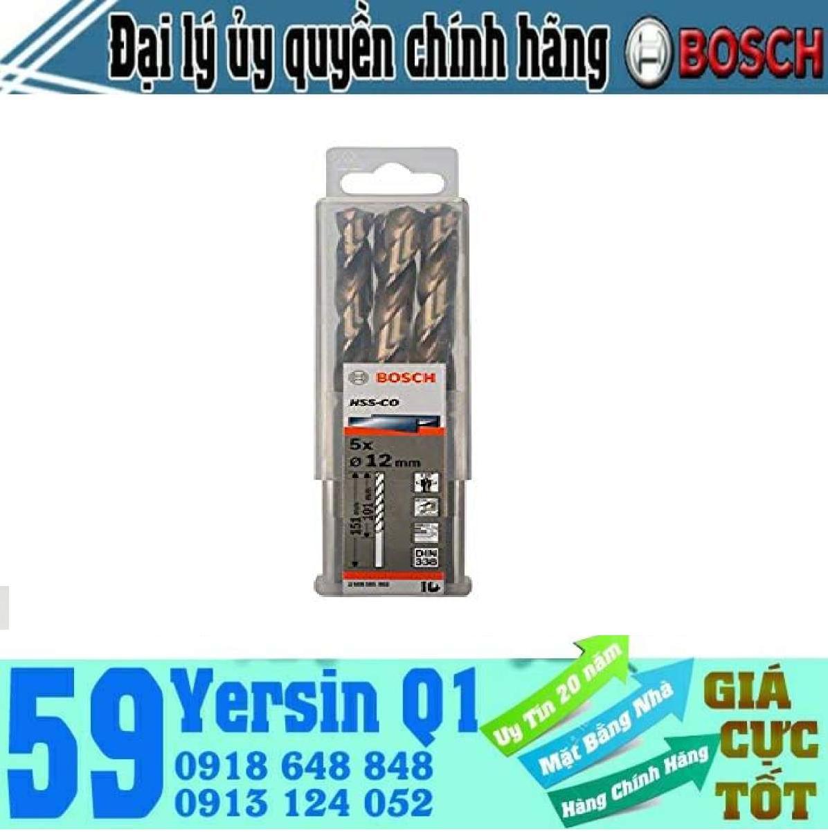 Mũi khoan Inox HSS-Co Bosch 12mm - 2608585903