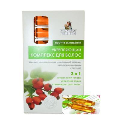 Tinh dầu kích thích mọc và chống rụng tóc Domasnie Recepty (chiết xuất nụ tầm xuân và hạt nho)