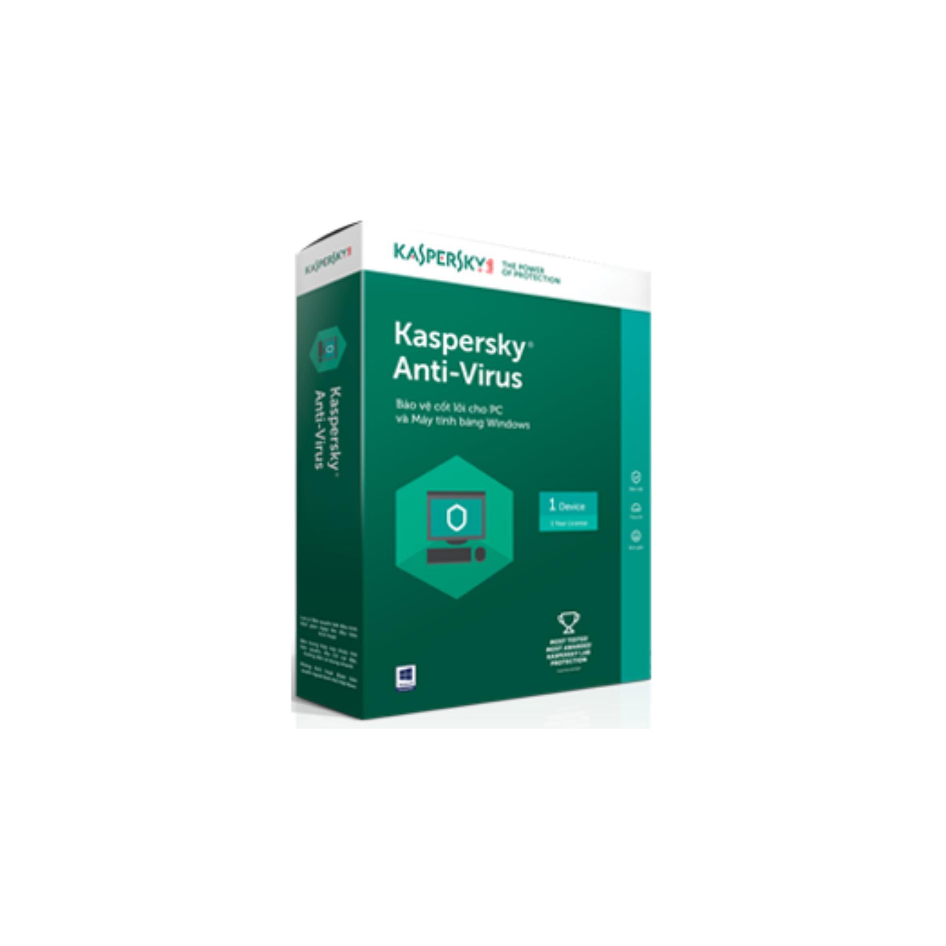Phần Mềm Diệt Virus Kaspersky Anti Virus 1Pc Kaspersky Chiết Khấu 50