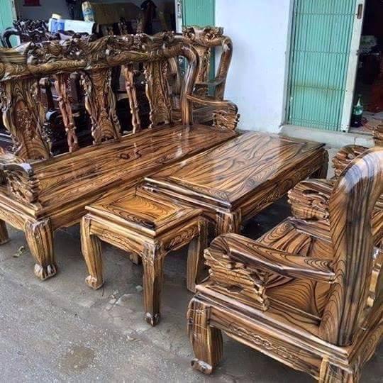 Bộ bàn ghế giả cổ minh quốc đào gỗ tràm Tay 10 và Tay 12