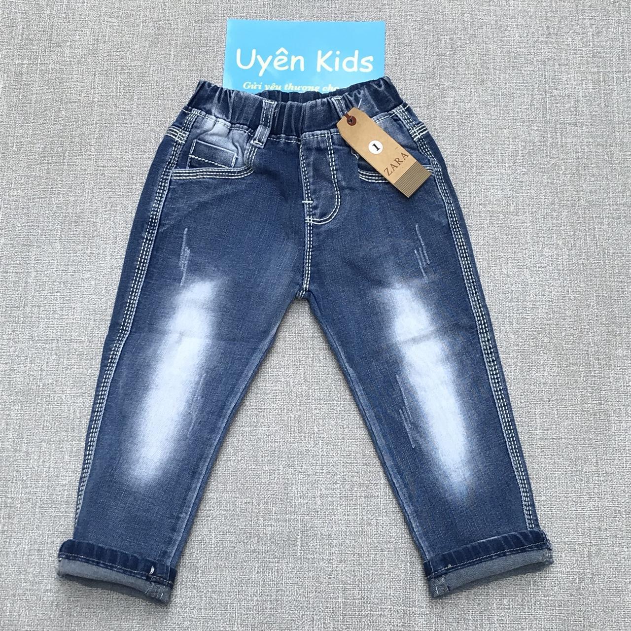 Giá bán Quần Jean dài wash cao cấp cho bé 10-28kg