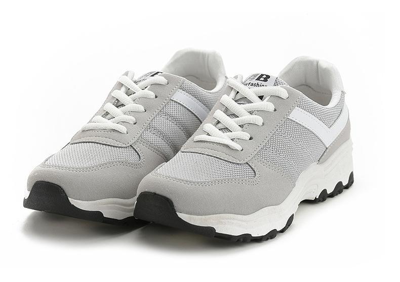 Giày Sneaker Thể Thao Nữ BAZAS Siêu Hot Y3-685X Màu Xám