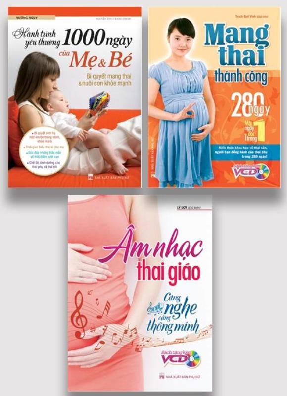 Sách: Combo Mang Thai Thành Công + Hành Trình Yêu Thương 1000 Ngày + Âm Nhạc Thai Giáo