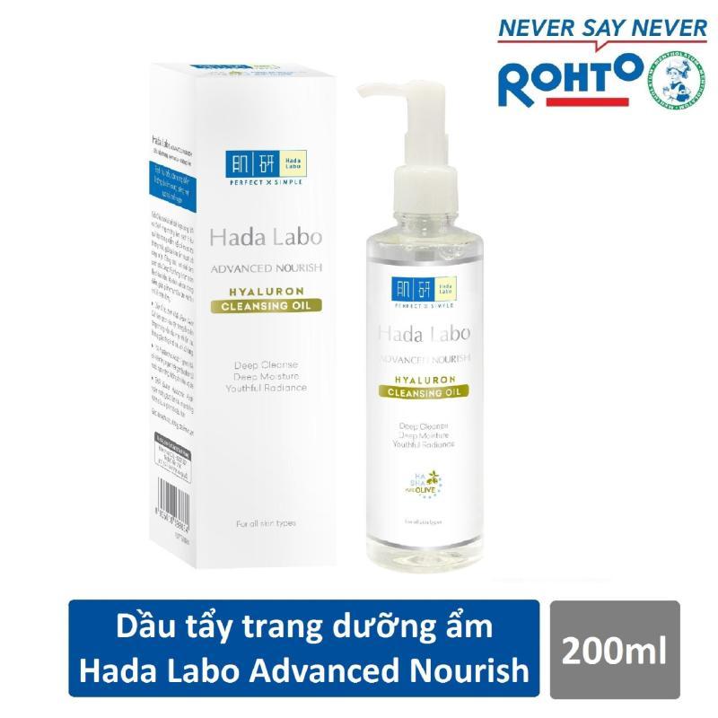 Dầu tẩy trang Hada Labo Advanced Nourish Hyaluron Cleansing Oil 200ml cao cấp