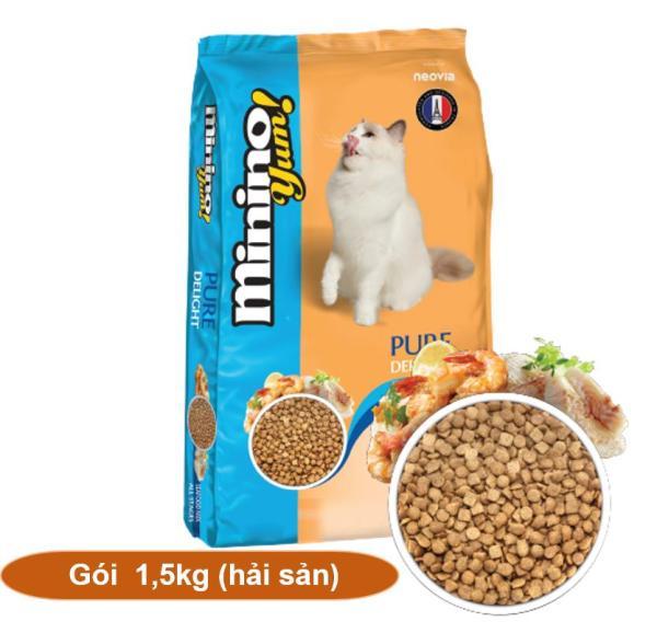 Hanapet-(Gói 1,5kg) Minino Yum (BLISK mới) - Thức ăn viên cao cấp cho mèo mọi lứa tuổi - ( 203f) hạt cho mèo / thứ
