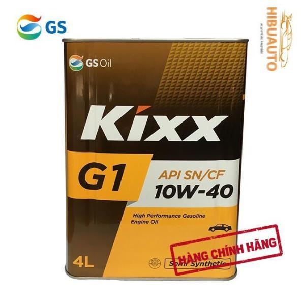 Nhớt Kixx G1 – Dầu động cơ xăng Kixx G1 SN 10W40 4L – Thùng Thiếc