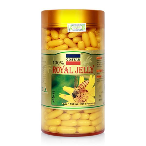 Viên uống Sữa Ong Chúa Costar Úc Royal Jelly Soft Gel Capsules 1450mg (100 viên)