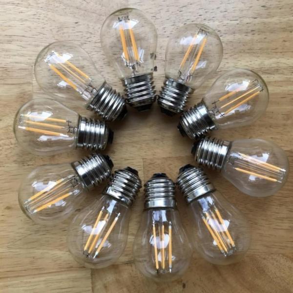 Bộ 10 Bóng Đèn Tròn trang trí Edison Vintage G45 E27 4W. Bảo hành 12 tháng Lỗi sản phẩm dc đổi mới Bóng Đèn Tròn trang trí Edison Vintage G45 4W E27