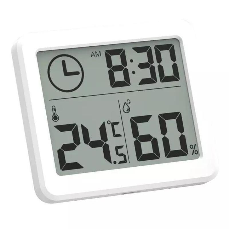 Nhiệt ẩm kế kiêm đồng hồ điện tử màn hình LCD độ chính xác cao bán chạy