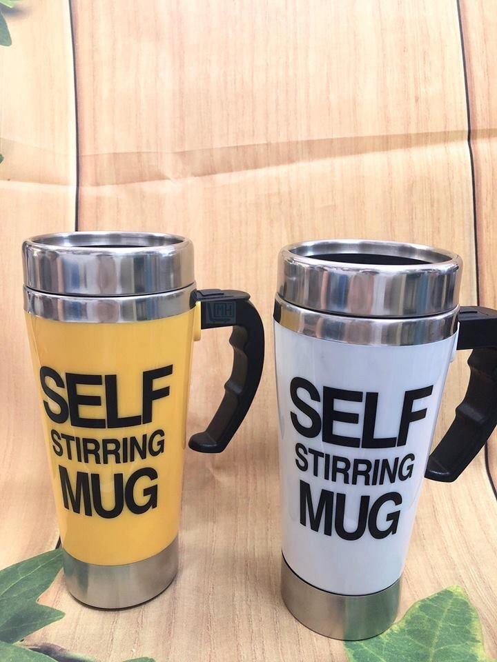 Cốc pha cafe tự khuấy SELF MUG 450ml cho văn phòng