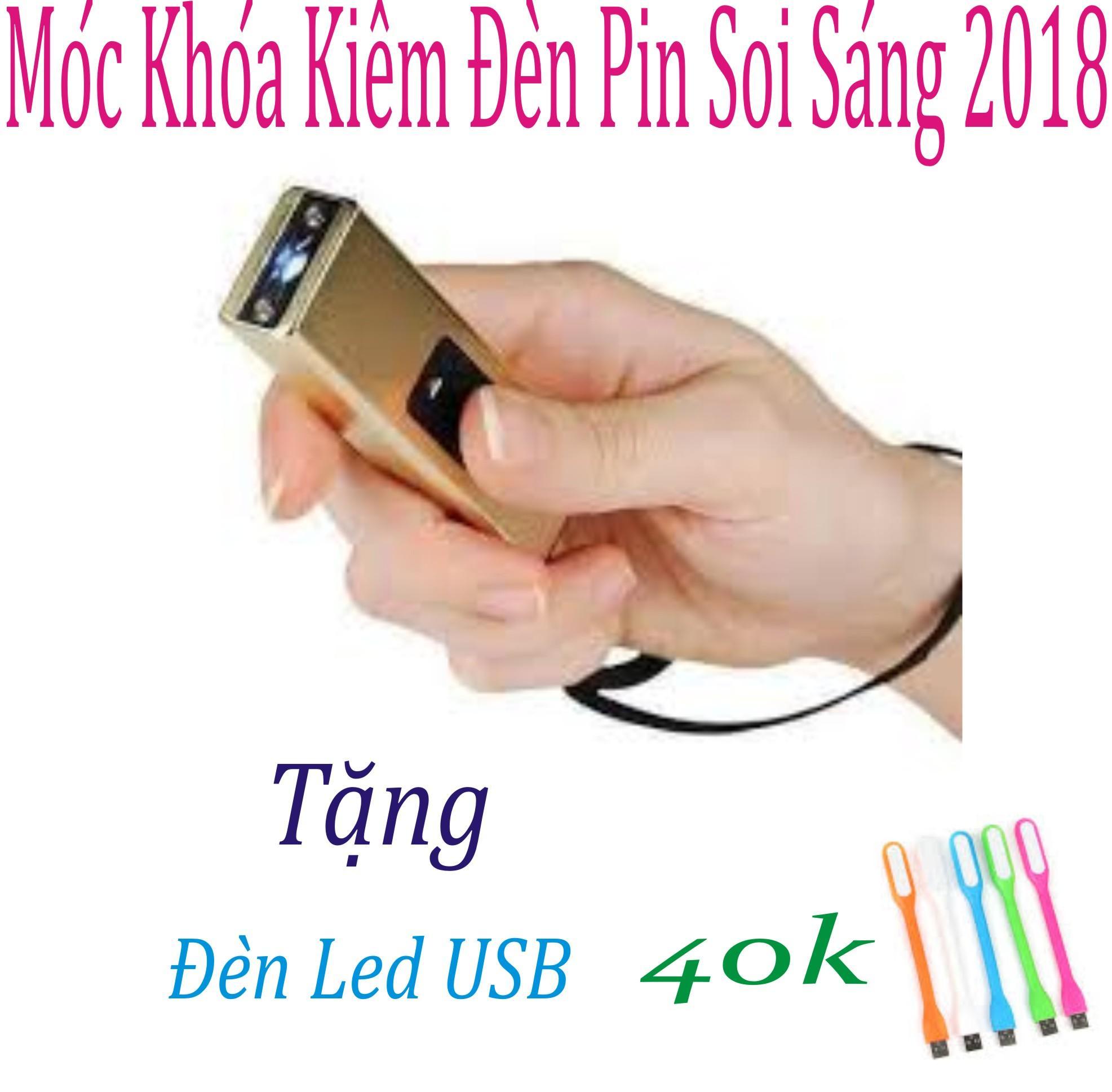 Hình ảnh MÓC KHÓA CHÍCH ĐIỆN KIÊM ĐÈN PIN TỰ VỆ LOẠI 1- 2018 (Hồng) Tặng Đèn Led USB trị Giá 69k