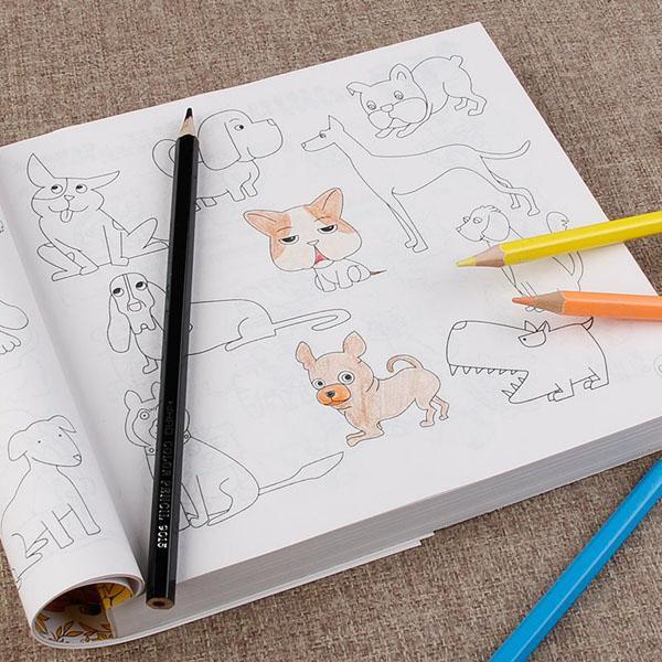 Hình ảnh Sách Tô màu 10000 hình cho bé +Tặng 12 cây bút màu