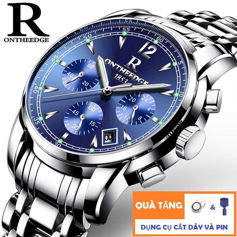 Đồng hồ Nam dây thép không gỉ R-Ontheedge 036 6 kim quay (TẶNG DỤNG CỤ CẮT DÂY VÀ PIN) bán chạy