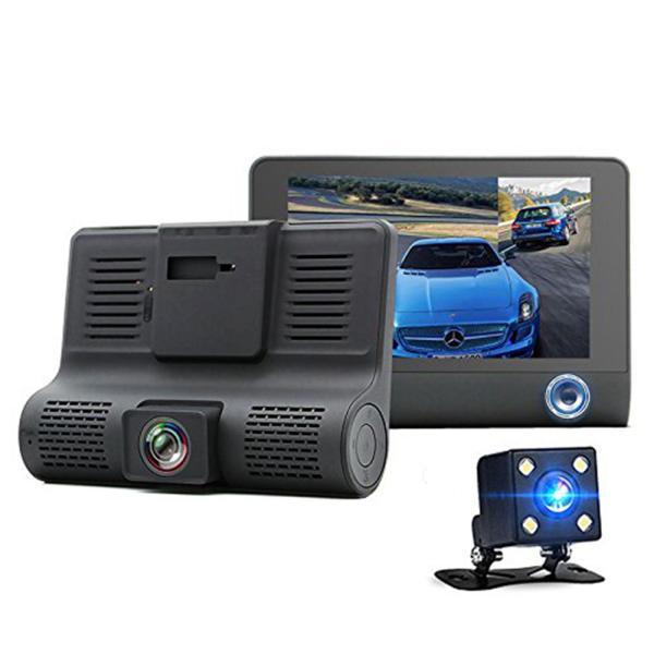 Camera hành trình DVR tích hợp cam lùi và cam giám sát trong xe hơi 3in1 tiện dụng