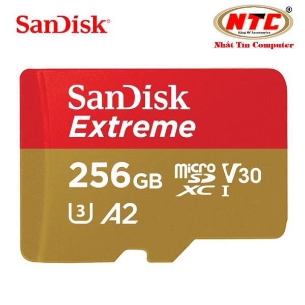 Thẻ nhớ MicroSDXC SanDisk Extreme V30 U3 4K A2 256GB R160MB/s W90MB/s (Đồng) - No Adapter - Nhất Tín Computer