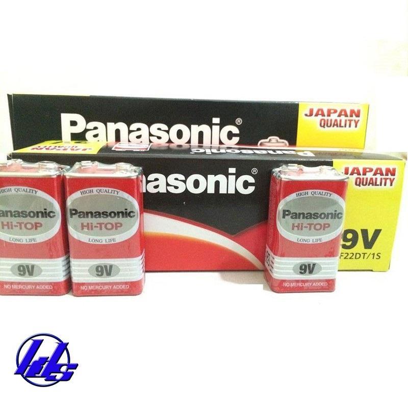 Pin vuông 9V Panasonic 6F22 - Hộp 12 viên