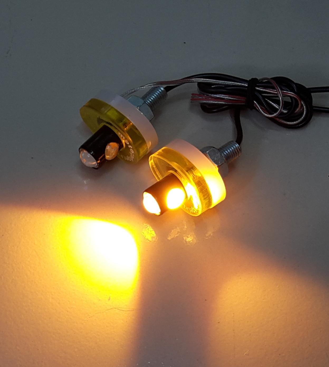 Đèn Led xi nhan sau cho Exciter 150 , xi nhan Led xe Exciter 150 - Hình tròn - Màu vàng