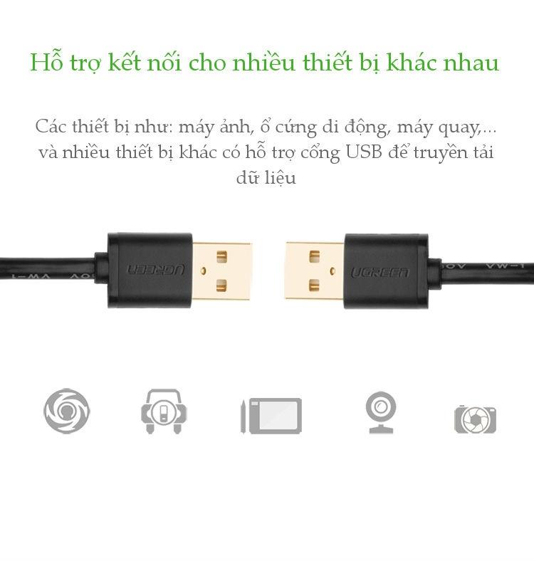 Dây cáp truyền dữ liệu 2 cổng USB 2.0 dài 0.25-3M  UGREEN US102 - Hãng phân phối chính thức