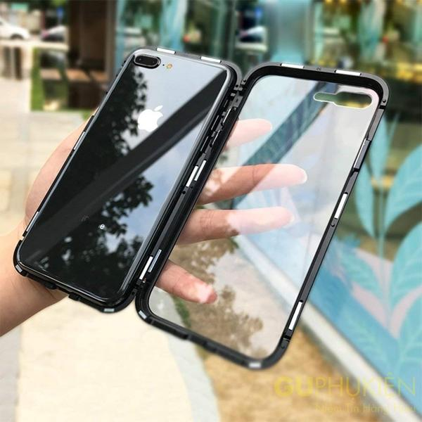Hình ảnh Ốp lưng cường lực nam châm cho iphone 7 plus/ 8 plus (siêu bền)
