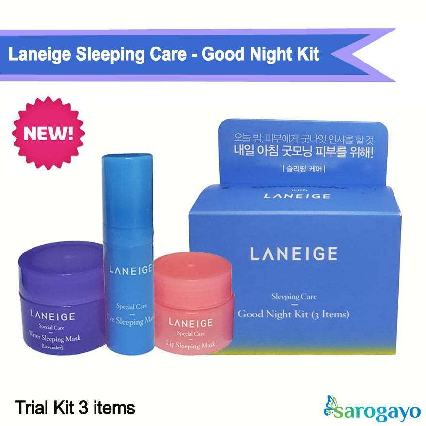 [NEW] Kit Mặt Nạ Ngủ Sleeping Care Good Night Kit [3 Items] nhập khẩu