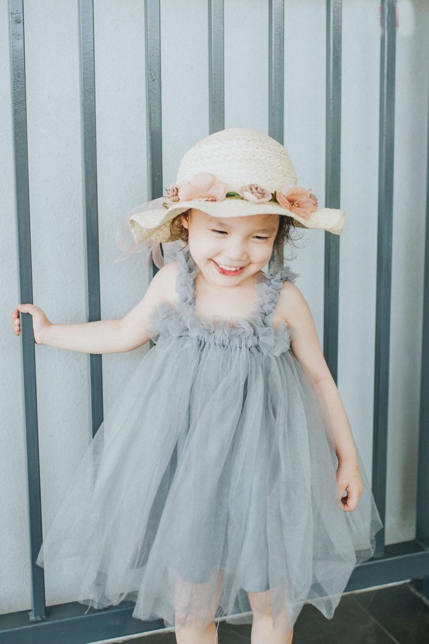 Giá bán Váy đầm bé gái công chúa voan phồng Hevi KD001
