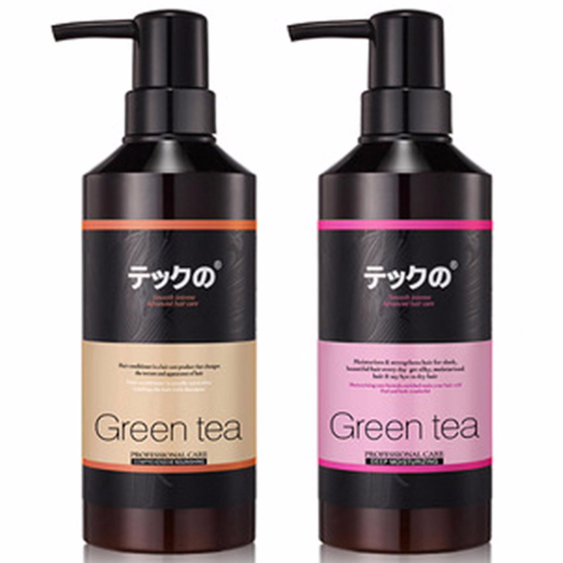 Hình ảnh Bộ dầu gội/xả siêu mềm mượt Green Tea Nhật Bản 800ml