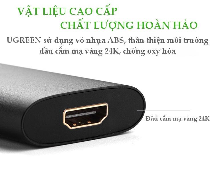Bộ chuyển VGA đầu đực sang cổng HDMI đầu cái UGREEN MM110