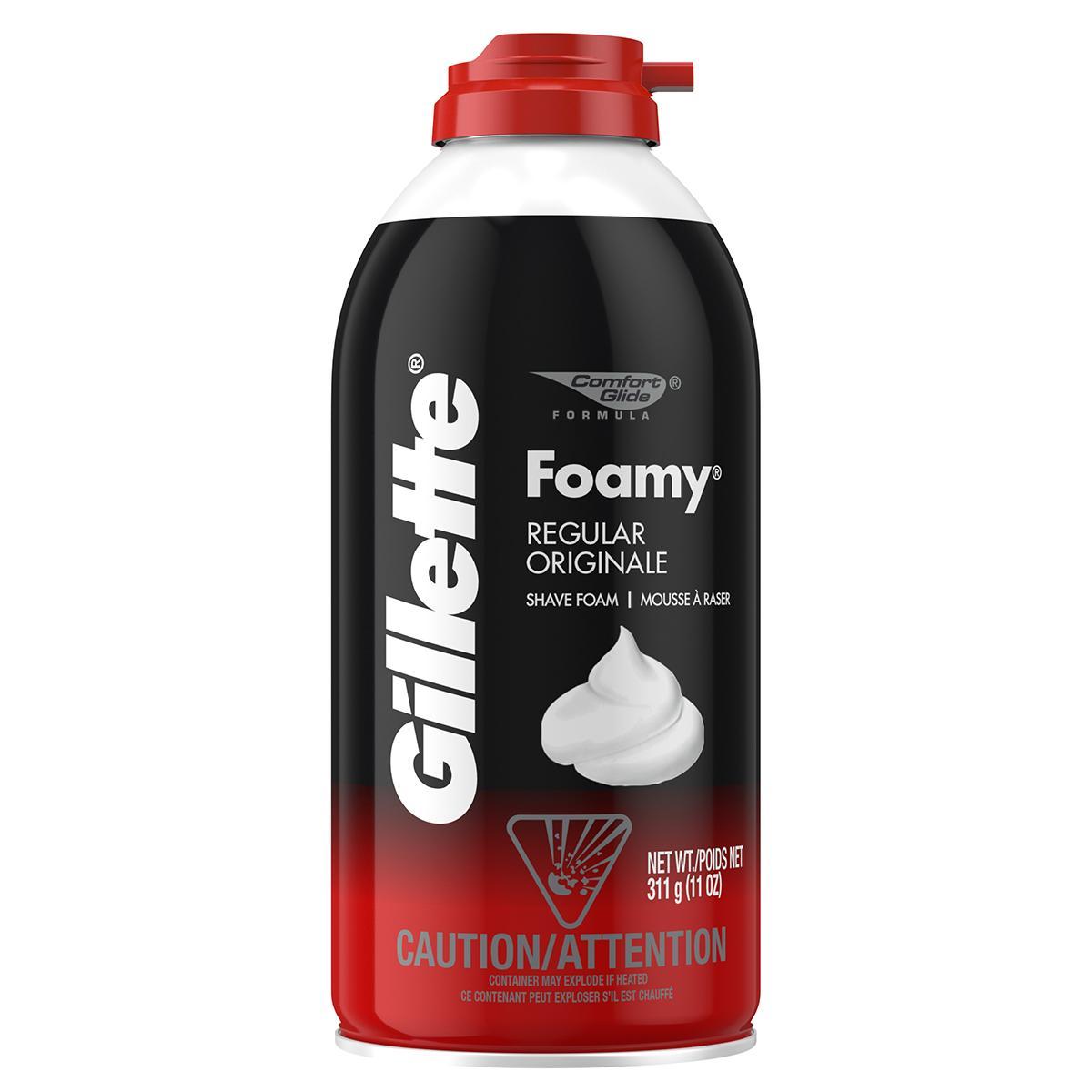 Kem cạo râu Gillette Regular Originale 311g (nhập khẩu mỹ) - Đỏ cao cấp