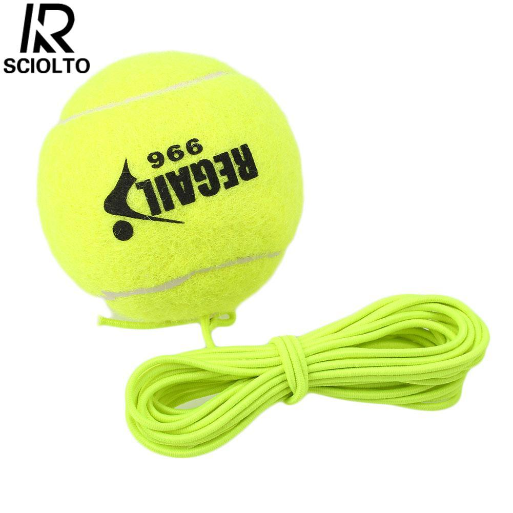 Hình ảnh (Free Shipping)SCIOLTO SPORTS 1Pc Tennis Ball With String Trainer Replacement Rubber Woolen Training Sport - intl