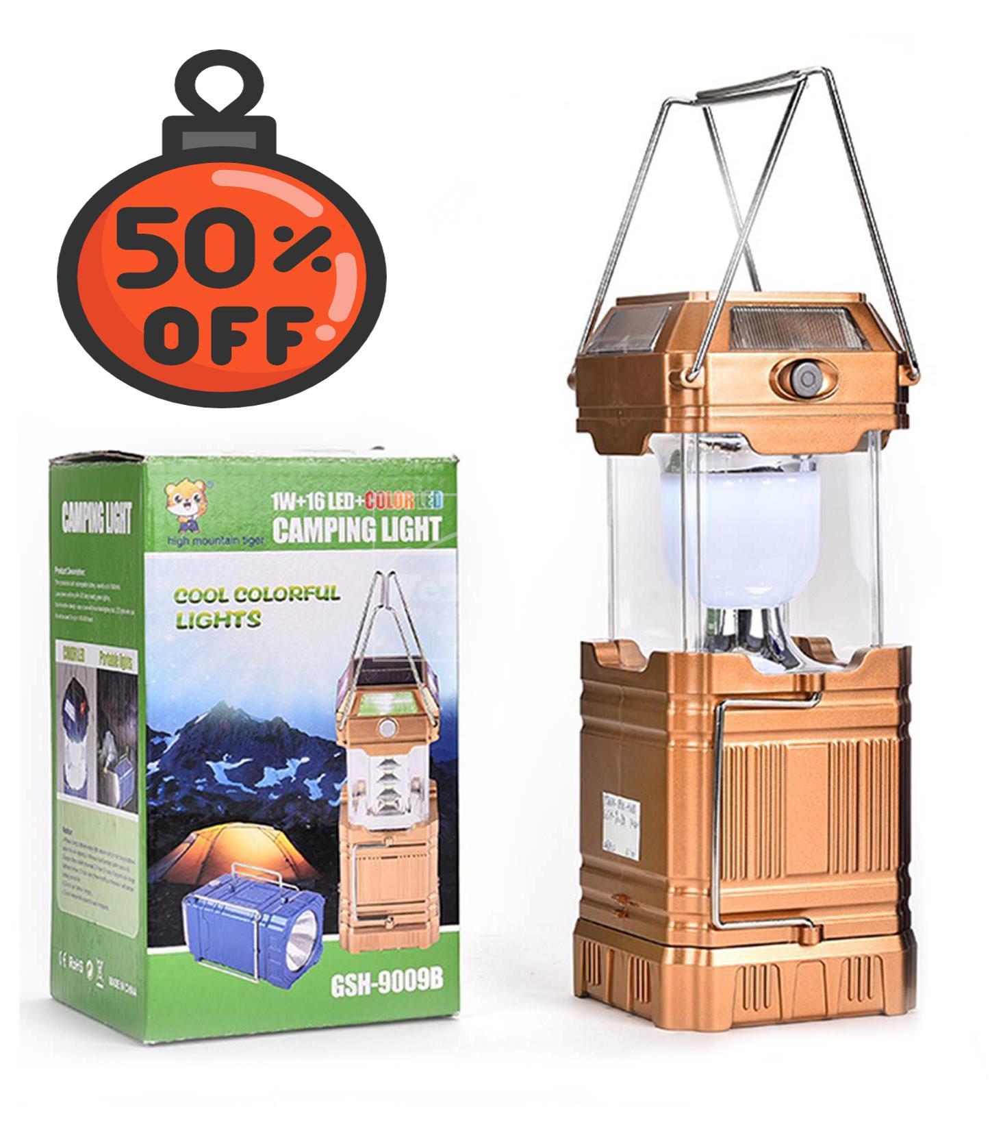 Hình ảnh Đèn sạc điện loại nào tốt, Đèn Bão Vuông Loại Lớn GSH-9009A - Camping Light GSH-9009A, Tiện lợi, Dễ dàng sử dụng, Bao den - BẢO HÀNH 1 ĐỔI 1