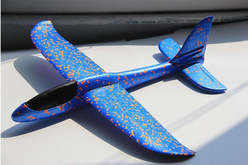Hình ảnh Máy bay xốp phi tay cỡ lớn 35cm*35cm màu tùy chọn