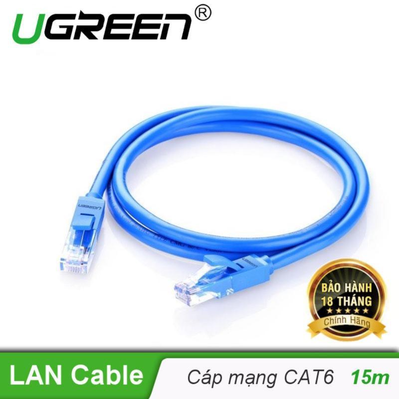 Bảng giá Dây mạng bấm sẵn 2 đầu Cat6 UTP Patch Cords dài 15M UGREEN NW102 11207 - Hãng phân phối chính thức Phong Vũ