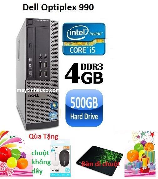 Hình ảnh Máy tính để bàn Dell optiplex 990 ( Core i5 RAM 4GB HDD 500GB ) Tặng Chuột không dây chính hãng , Bàn di chuột ,Bảo hành 24 tháng - Hàng nhập khẩu (Xám)
