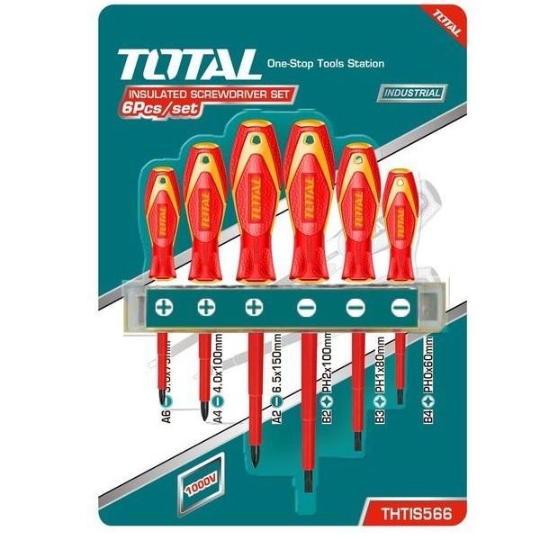 BỘ TUỐC NƠ VÍT TÔ VÍT 6 CHI TIẾT CÁCH NHIỆT Total THTIS566