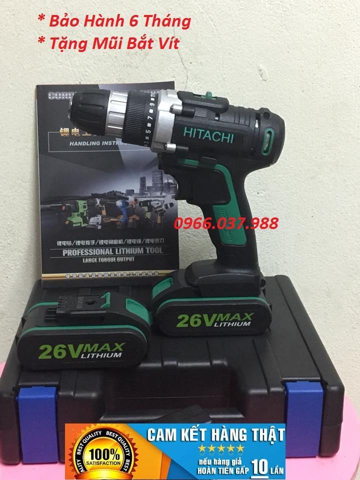 Khoan Pin HITACHI 26V- Kèm 2 Pin
