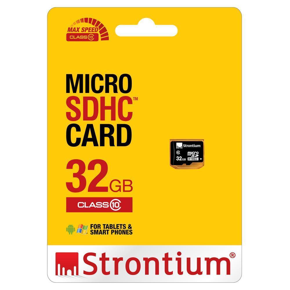 Thẻ nhớ Strontium Class 10 Full Video HD cho Camera và Smartphone