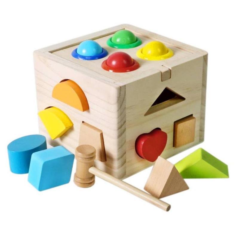 Hộp thả hình khối kết hợp đập bóng