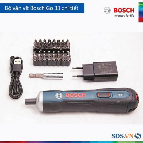 Bộ máy vặn vít dùng pin Bosch Go và 33 chi tiết